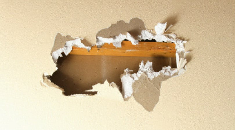 Business Lessons from Plastering Holes Punched in the Ceiling